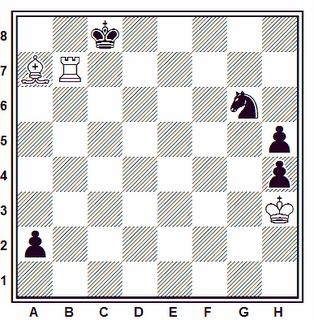 Problema ejercicio de ajedrez número 101: Estudio de A. A. Troitzky, 1926