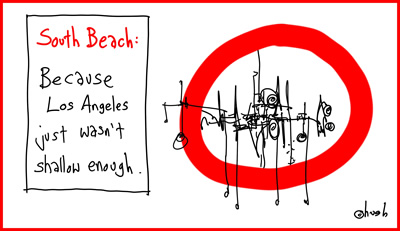hugh macleod south beach cartoon