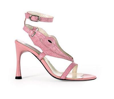 alligator leather high heel