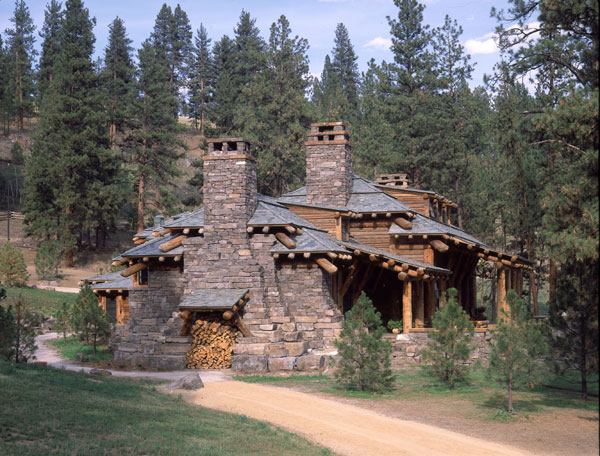 Trent sarah reeghan paetan easton shining mountain ranch for Log and stone homes