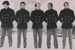 O Conjunto (esquerda para direita): Antônio Adolfo, Jurandir Meirelles, Roberto Menescal, Wilson das Neves e Hermes Contesini