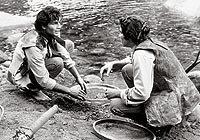 Tarcísio Meira (João Coragem) e Claudio Cavalcanti (Jerônimo) em cena da novela 'Irmãos Coragem' (1970)