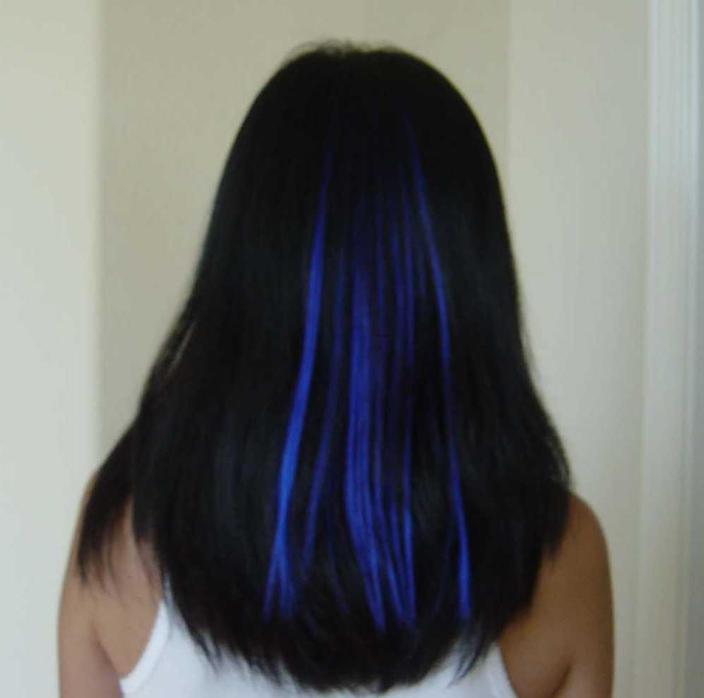 Pictures of My Blue Hair Extensions