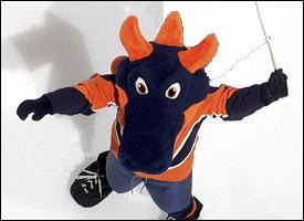Sparky waves the Isles' freak flag high
