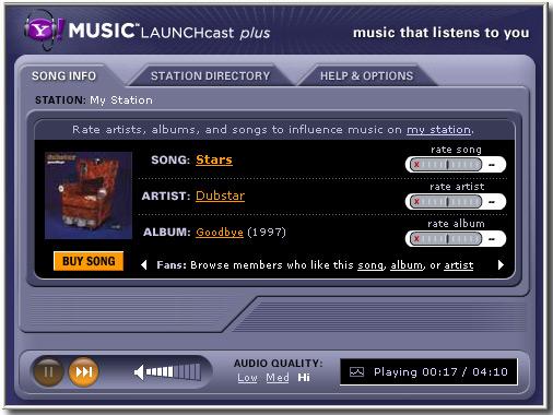 at least one cool thing launchcast v pandora rh atleastonecoolthing blogspot com Play Music Pandora Music Radio