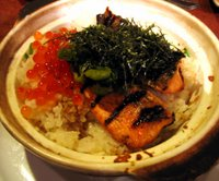 gochi salmon clay pot