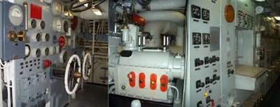 Engine Room #1 on the USS Hornet.  Turn and Burn