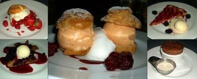 desserts at Range