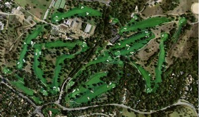 satellite view of stanford golf course from goole earth