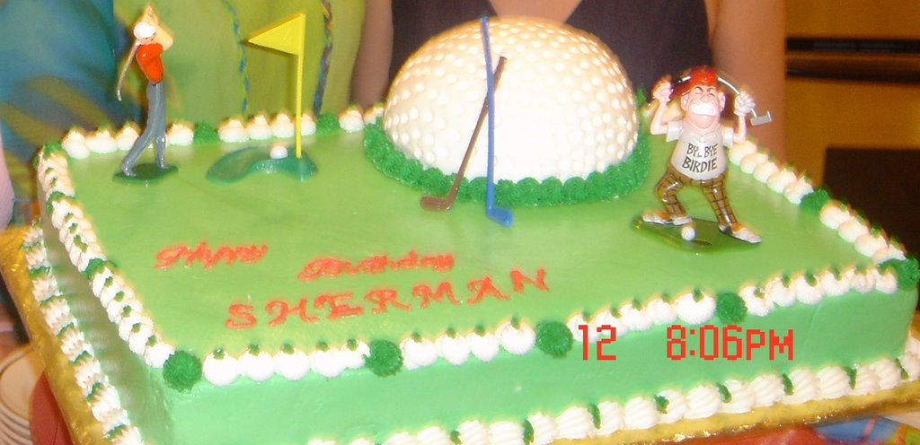 Golf Course Cake Design : MLYU S CAKE DESIGN: My Husband 50th Birthday Cake-Golf Course