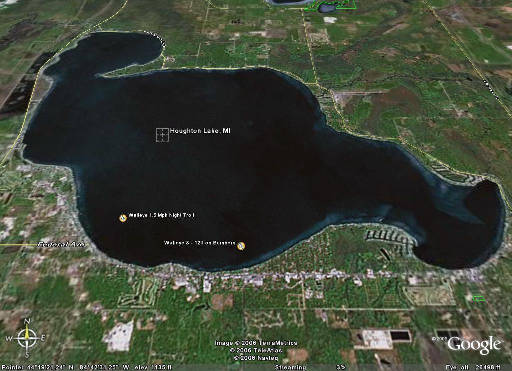 Houghton lake walleye report houghton lake hot spots for Lake erie perch fishing hot spots