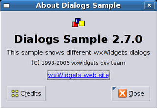 GTK+ About Dialog