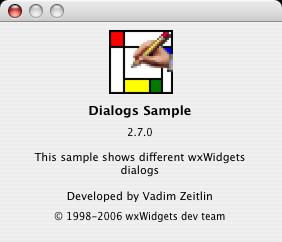 Mac OS X About Dialog
