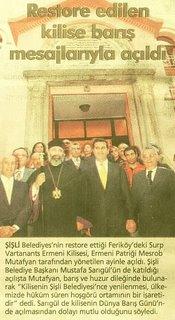 Surp Vartanants Armenian Church at Ferikoy -Vatan Newspaper