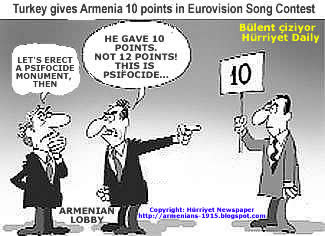 Turkey gives Armenia 10 Points Not 12 This is Psifocide