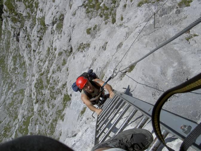 Klettersteig Tälli : Famwilli: tälli klettersteig