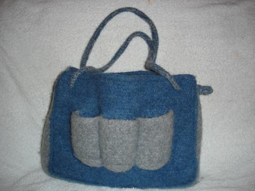 The Funky Hooker: Crocheted Felted Diaper Bag