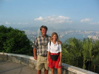 Wendy and Garth at Victoria Peak