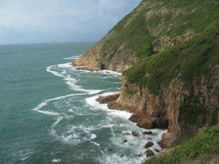 Crashing Waves on windward side
