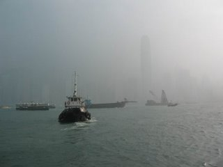 A Day of Poor Visibility Across Victoria Harbor