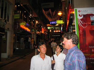 Lan Kwai Fong on a Tuesday night