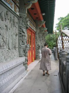 Monk in the Monastery Grounds