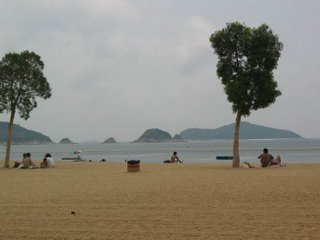 Repulse Bay Beach on the South of Hong Kong Island