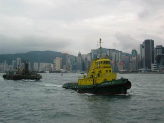 Traffic on Victoria Harbor
