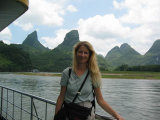 Wendy on the Li River Cruise