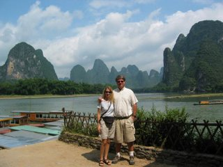 Wendy and Garth Along the Li River