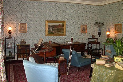 Interior of Down House, Bromley