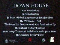 Down House Plaque