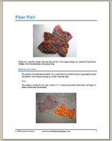 Fiber Fish Mittens Pattern