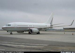 O 737 da CIA fotografado em Portugal em 2004: Luís Gonçalves/Airliners.net