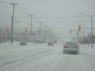 Winterstorm in Toronto