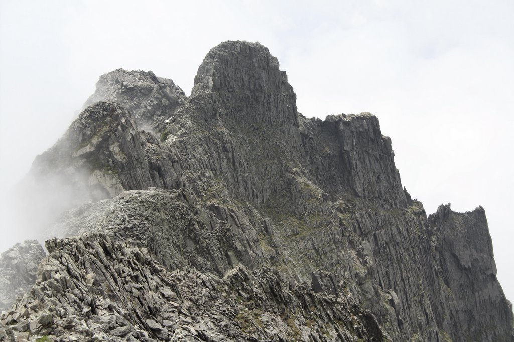 野山の散策 ジャンダルムの散策、この山は私の一番お気に入りの山です。 頂上はそんなに思った程感激