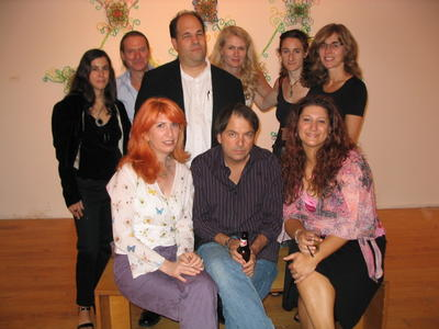SOME BEAUTIFUL DREAMERS, Clockwise from center: David Gibson, Mary Ann Strandell, Ruth Waldman, Drew Shiflett, Tara Giannini, Mark Power, Karen Marston, Leemour Pelli, and Conrad Vogel