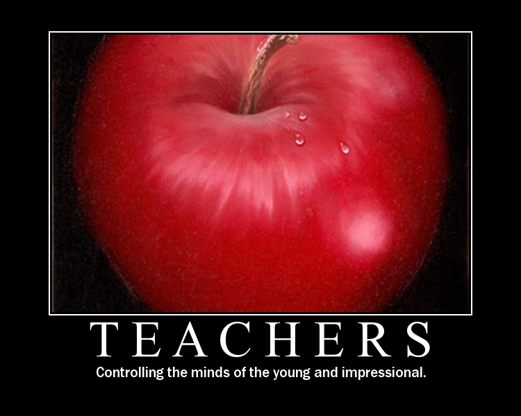 Yeah, That'll Teach You A Lesson: Motivational Teaching Poster