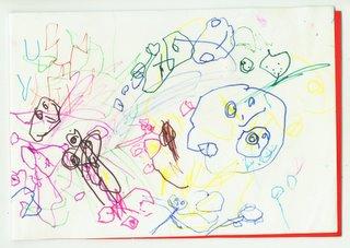 gambar ini discann dari salah satu buku gambar Ade... :P~