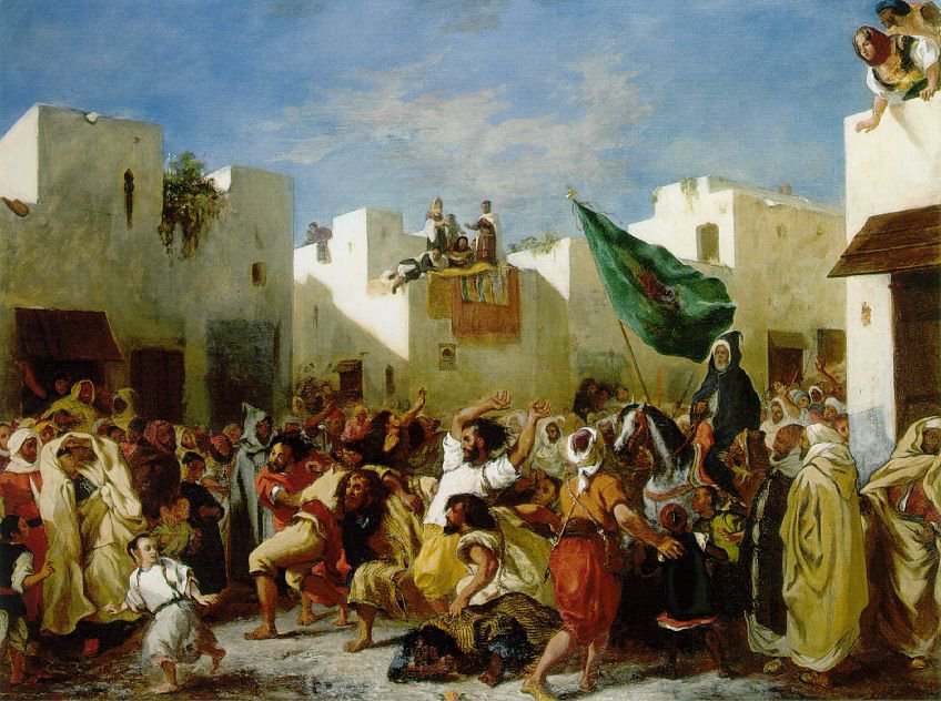 Eugene Delacroix - Agitação de Tânger