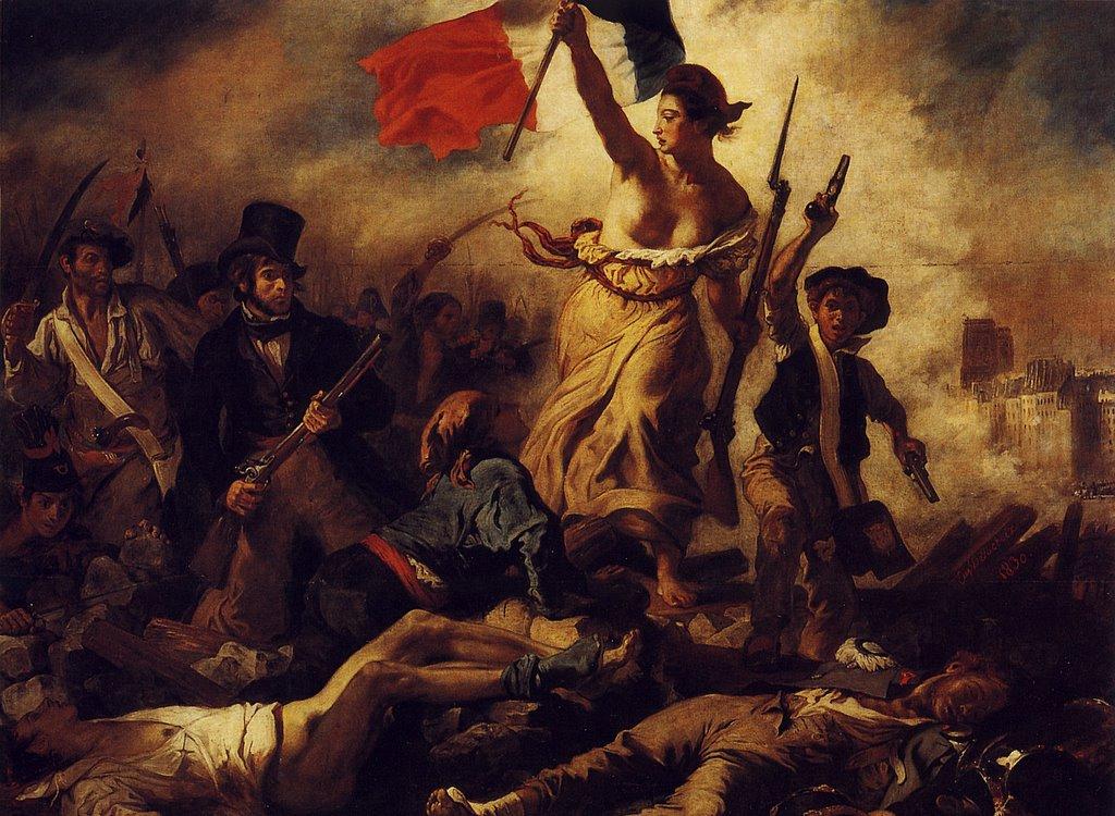 Eugene Delacroix - A Liberdade guiando o povo