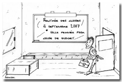 Effet procrastination d'un prof pour sa rentrée - Judicael