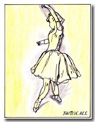 reproduction de DEGAS - esquisse de petite danseuse - Judicaël
