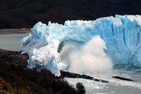 Perito Moreno Glacier falling