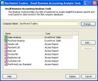 Microsoft Small Business Accounting Software (SBA)