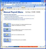 Microsoft Small Business Accounting Software (SBA) Excel Payroll