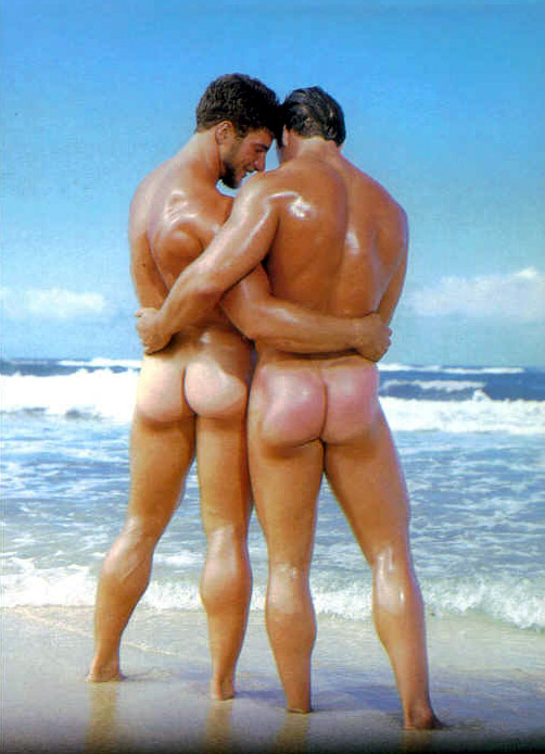 Male butts beach nude