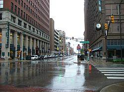Así se veían las calles de Indianápolis en una tarde cualquiera