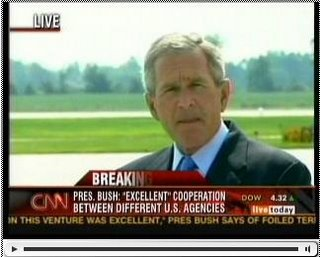 Bush responds to the UK terror plot