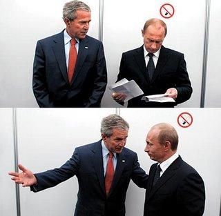 Bush & Putin at the G8